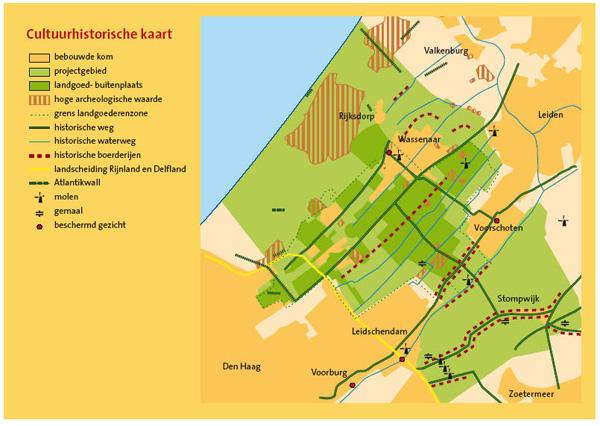 Cultuurhistorische kaart werkgebied Pact van Duivenvoorde