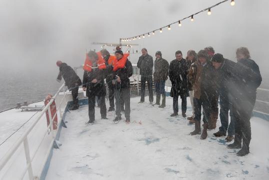 Startsein verontdieping Meeslouwerplas, nieuwe ophaalbrug tussen de Vliet en Vlietland feestelijk geopend door Gedeputeerde Erik van Heijningen van de Provincie Zuid-Holland